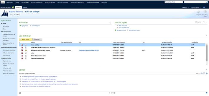 Portal de Empresa de Dynamics AX